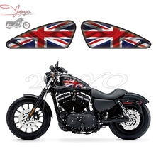 United Kingdom Flag Graphics Fuel Tank Decals Stickers For Harley Sportster XL 883 1200 X/V/R/N/L/C Iron Forty Eight Seventy Two