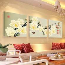 3 Piece Free Shipping Hot Sell Modern Oil Wall Painting orchid flower Home Decorative Cheap Art Picture Paint on Canvas Prints05(China)