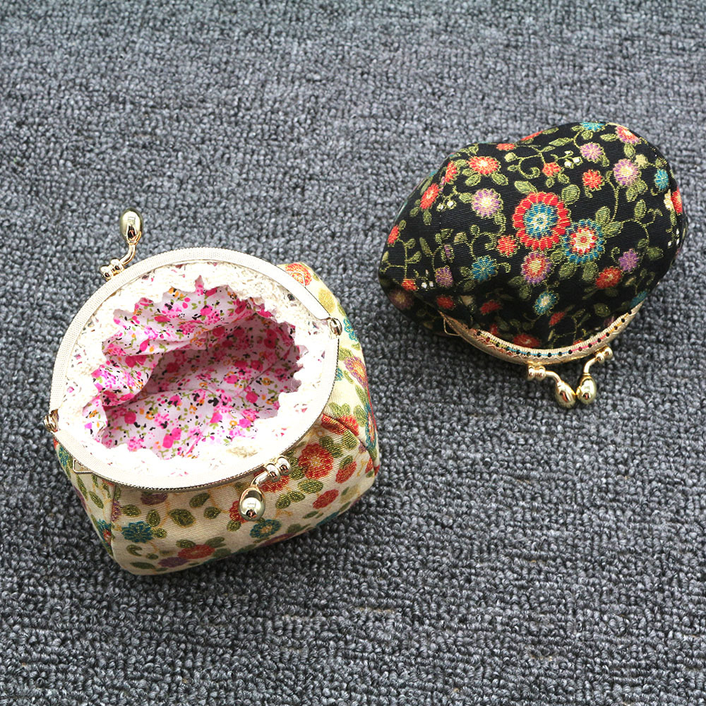 Mini Coin Purse Kiss Lock Girls  Change Purse Hasp Wallet women lady flower bags  (3)