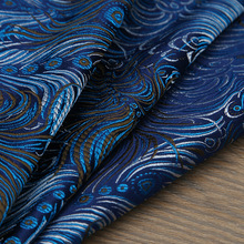 Peacock style Metallic Jacquard Brocade Fabric,3D jacquard fabric, yarn dyed fabric for Womens Coat Dress Skirt By meter