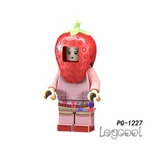 1PCS model building blocks action figure starwars superheroes Fruits and vegetables Strawberry Lolita diy toys for children gift(China)