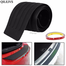 "Hot 35"" Car Rear Bumper Guard Protector Trim Cover Sill Plate Trunk Pad Kit New Drop shipping(China)"