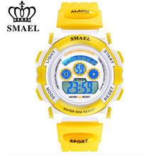 SMAEL Children LED Display Watch 50m Waterproof Kids Sports Watches Multifunction Electronic boys&girls Students Wristatches(China)