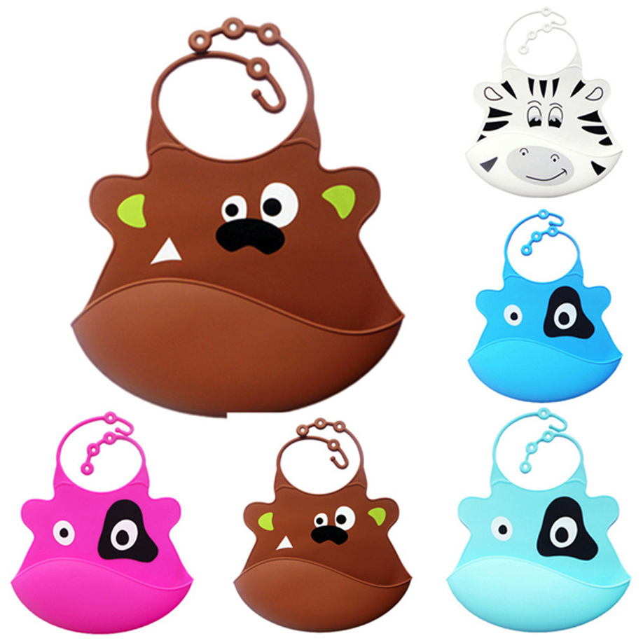 USPS baby organic cotton Cute baby bibs Kid Infant slabber Baby baby bibs Soft Silicone Bib Waterproof Saliva Dripping bavoir (China)