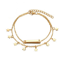 Buy SHUANGR Multi Layer Star Pendant Anklet Foot Chain 2017 New Summer Yoga Beach Leg Bracelet Charm Anklets Jewelry Gift Drop shipp for $1.08 in AliExpress store