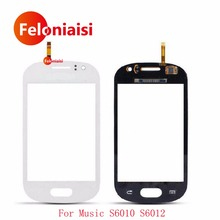 "High Quality 3.0"" For Samsung Galaxy Music S6010 S6012 Touch Screen Digitizer Sensor Outer Glass Lens Panel Browm White+Tracking(China)"