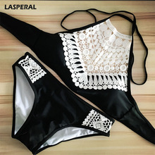 LASPERAL Women Bra Set  Solid Color Sexy Sling Lace Triangle Bra Bikini Sets Ladies Bathing Suit Bra and Underwear Swimsuit