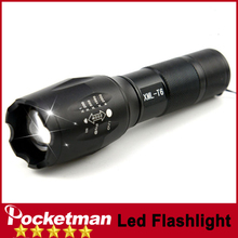 zk90 Big Promotion Ultra Bright CREE XML-T6 3800Lumens cree led Torch Zoomable LED Flashlight For 1x18650 Free shipping