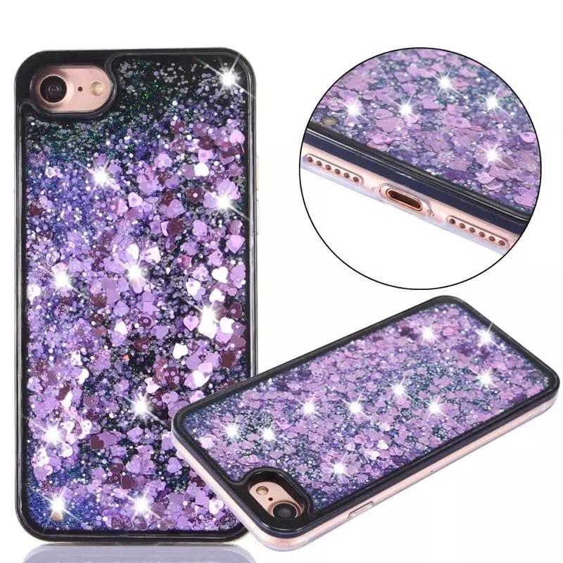 New Fashion Liquid Glitter meteor sand sequins Colorful Dynamic Transparent Mobile Phone cases For iphone 5 SE 6 6S plus 7 7plus