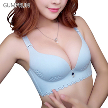 GUMPRUN Hollow Holes Women Bra Wire Free Breathable Soft Bra for Women Charming Solid Thin Cup Underwear Women Sexy Lingerie(China)