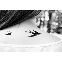 5Pcs Body Painting Fake Transfer Waterproof Temporary Bird Tattoo Temporary Tattoo Sticker 3D Tattoo Sleeve Body Art(China)