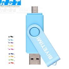 New RBT BIYETIMI Usb Flash Drives Dual-use 9 Color OTG 8GB 16GB 32GB Originality Pen Drive Memory USB Stick Pendrive For Android