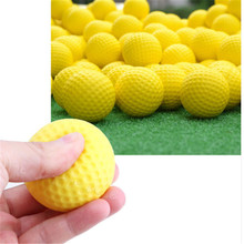 1Pcs Yellow Plastic Soft Golf ball Indoor Outdoor Training Practice Elastic Foam Golf Balls(China)