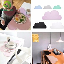 48*27CM Foodgrade Silicone Baby Placemat Waterproof Infant Table Bar Mat Kids Cloud Tiny Diner Plate Heat Resistant Feeding Pad