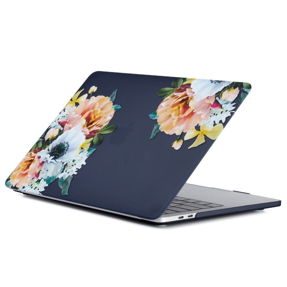 Flower Leaf Pattern Hard Case Protective Cover Shell for Apple Mac MacBook  Air 11 13 Pro 12 13 15 Touch bar Women Men Bag Sleeve  307139725