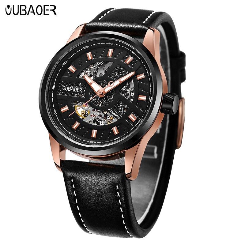 OUBAOER Brand Luxury Automatic Self-Wind Mens Watch Mechanical Wristwatches Male Waterproof Dress relogio masculino erkek saat <br>