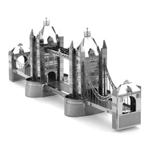 Hot Sale World Famous Building 3D Metal Puzzles London Tower Bridge Sydney Opera House Metal Earth Jigsaw Puzzle For Adult/Kids
