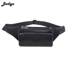 Fashion Fanny Bag PU Leather Women Waist Pack Multi Layer Large Capacity Wallet Phone Bags Zipper Design Small Practical Bag