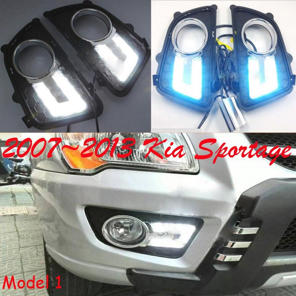 2007~2013 KIA sportage daytime light,Free ship to your door!LED,KIA sportage fog light,2ps/set,White/White+Blue turnning!<br>