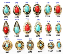 20pcs Newest Japanese Manicure jewelry Bohemia Vintage ethnic wind crack Turquoise Nail Diamond Decoration Stone