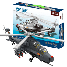 DR.Luck JX002 BABY TOYS WZ-10 1:38 GUNSHIP ARMY MILITARY HELICOPTER BUILDING BRICKS 304 PCS LEARNING &EDUCATIONAL BLOCKS(China)
