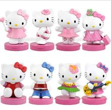 New Hello Kitty PVC toy about 6cm size Action Figures Toys xmas Gift doll 8pc/set free shipping(China)