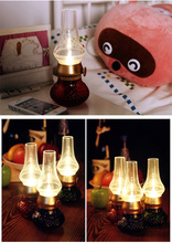 High Quality Vintage Kerosene Lamp Lantern Camping Portable Lamp Blowing Controll Retro Oil Lamp Night Lights Table Lamps