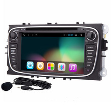 Quad Core CPU Cortex A9 1.6GHz Android 6.0 PC Car DVD Player For Ford Focus Smax Mondeo with GPS Navigation Radio Stereo Canbus()