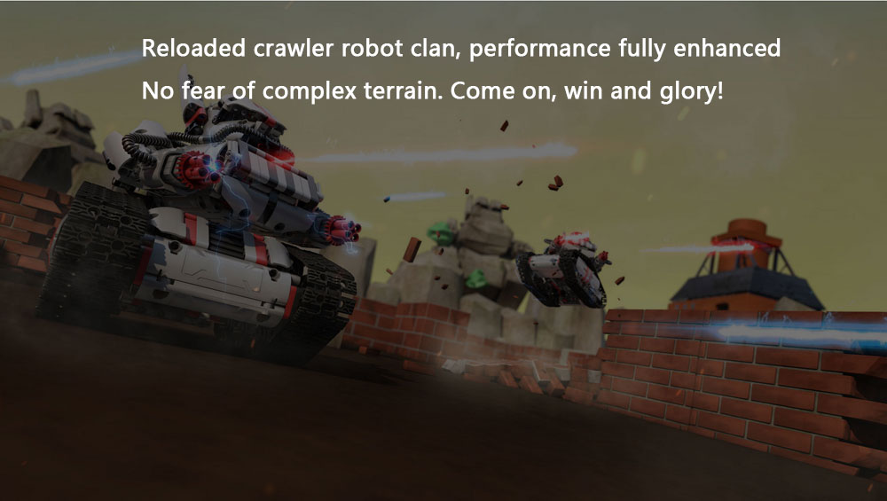 Original Xiaomi Mitu Robot Tank Mecha Crawler Base Mitu Building Block Robot Crawler Tank Version Controll By Smartphone Mihome