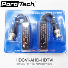 08B 5pairs Single port HD Analog Video Passive UTP Balun / BNC male 75ohms / UTP Cable 100ohms / video converter