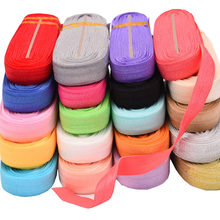 "10yds/roll 5/8""cm Solid Fold Over Elastic Hair Accessories FOE Elastic For Hair Ties Headband DIY Headwear(China)"