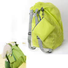 TEXU Green folding backpack women waterproof Convert Storage Bag Shoulder Bags