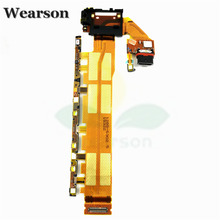 For Sony Z3+Dual Z4 E6533 E6553 SOV31 Power Button Volume Key Flex Cable USB FPC Original Free Shipping With Tracking Number