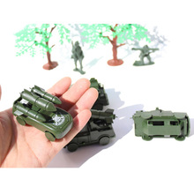 The latest round of missile armored vehicles fake army army vehicle weapon simulation plastic model the best gift for children.(China)