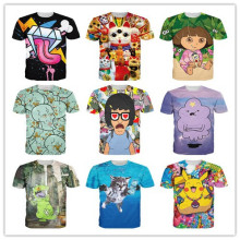 Summer style adventure time/Handsome Squidward/Tina Belcher/Dora print 3d t shirt men/women Cartoon tshirt unisex street wear