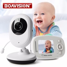 2.4'' Color Video Wireless Baby Monitor Night Light Babyphone 2.4GHz Security Camera 2 Way Talk Digital Zoom Music Temperature(China)