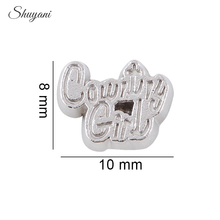 20pcs/lot Newst DIY Zinc Alloy 2016 Counrty Girl Charms Floating Locket Charms fit Living Memory Locket(China)