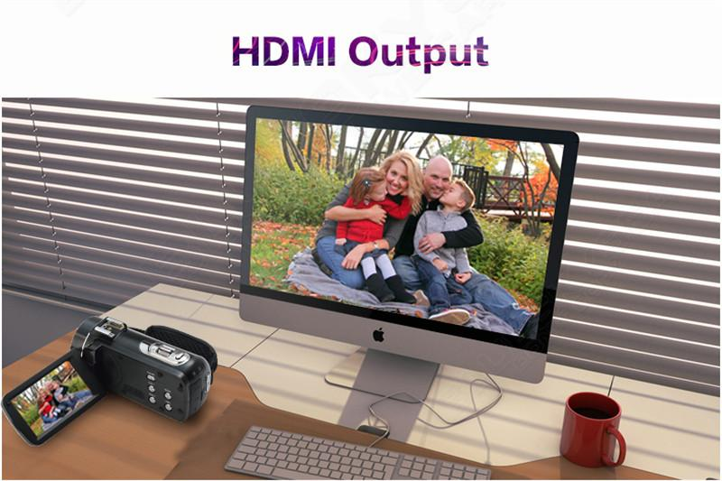 """ORDRO HDV-Z Digital Video Camera Camcorder 3.0"""" Touch Screen 1080P Full HD 16X Zoom 24MP Face Detection LED Fill-in Light DV 12"""
