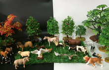 Original genuine farm animals sets pets dogs pug horses pony cows sheeps chicken goose kids learning toy for children gift