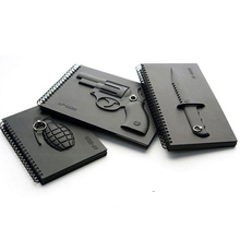 Free Shipping 1Piece Sniper Elite ! Revolver AF-003R Weapons Notebooks Hardcover Diary Memo Note Pad with Keyholder