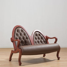 Antique Modern Europe And America Style Sofa Living Room Good Quality Furniture Environmental Simulation Leather Sofas