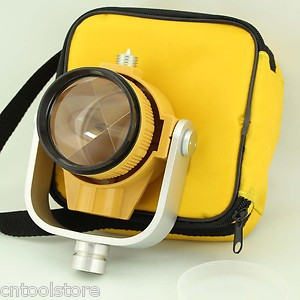Single Prism with Bag for Total Station Yellow Colour<br>