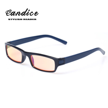 Anti Blue Rays Orange Lens Computer Goggles Reading Glasses 100% UV400 Radiation-resistant Glasses Computer Gaming Glasses(China)