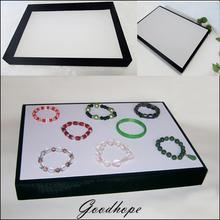 Retail White & Black Jewellery Shop Display Case Flat Tray Box Holder for Bracelet Bangle Necklace Pendant Diy Finding Showcase