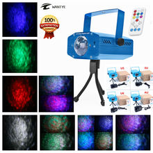 Mini Remote RGBW LED Water Wave Ripple Stage Effect Lighting Projector Party Disco Club DJ Bar LED Stage Light Show(China)
