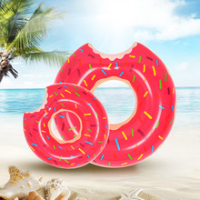 031464 Thicker Inflatable donut swimming ring for adult&children lying in pool Swimming Pool Toys PVC 0.25mm Multi-size