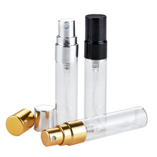 5ML Mini Refillable Portable Sample Perfume Bottle Glass Travel Empty Pump Spray Atomizer Bottles Cosmetic Container