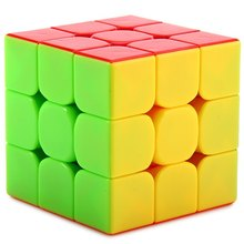 Fantasy 3x3x3 Magic Cube Keyring Puzzle Keychain Speed Toy Three Layers Magic Cube Brain Teaser Colorful Gift For Man Woman