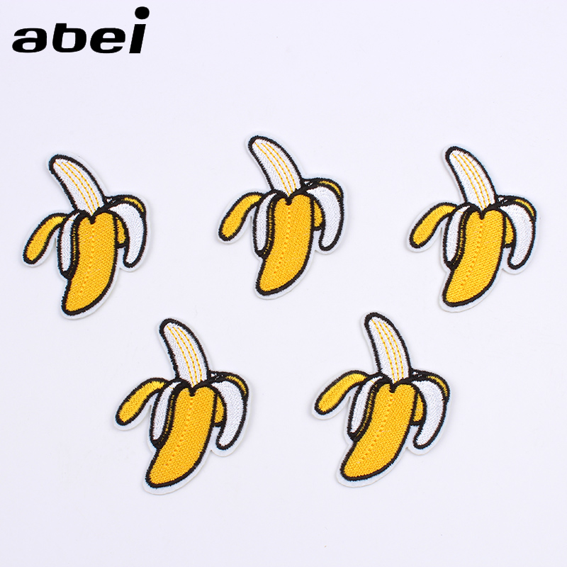 3-Pack, Small, Iron on Banana Bunch Patch Applique