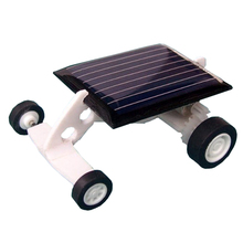 Newest Solar Power Energy DIY Assembly Mini Solarwind Car Plastic Scientific Educational Solar toy Christmas Gift Boys(China)